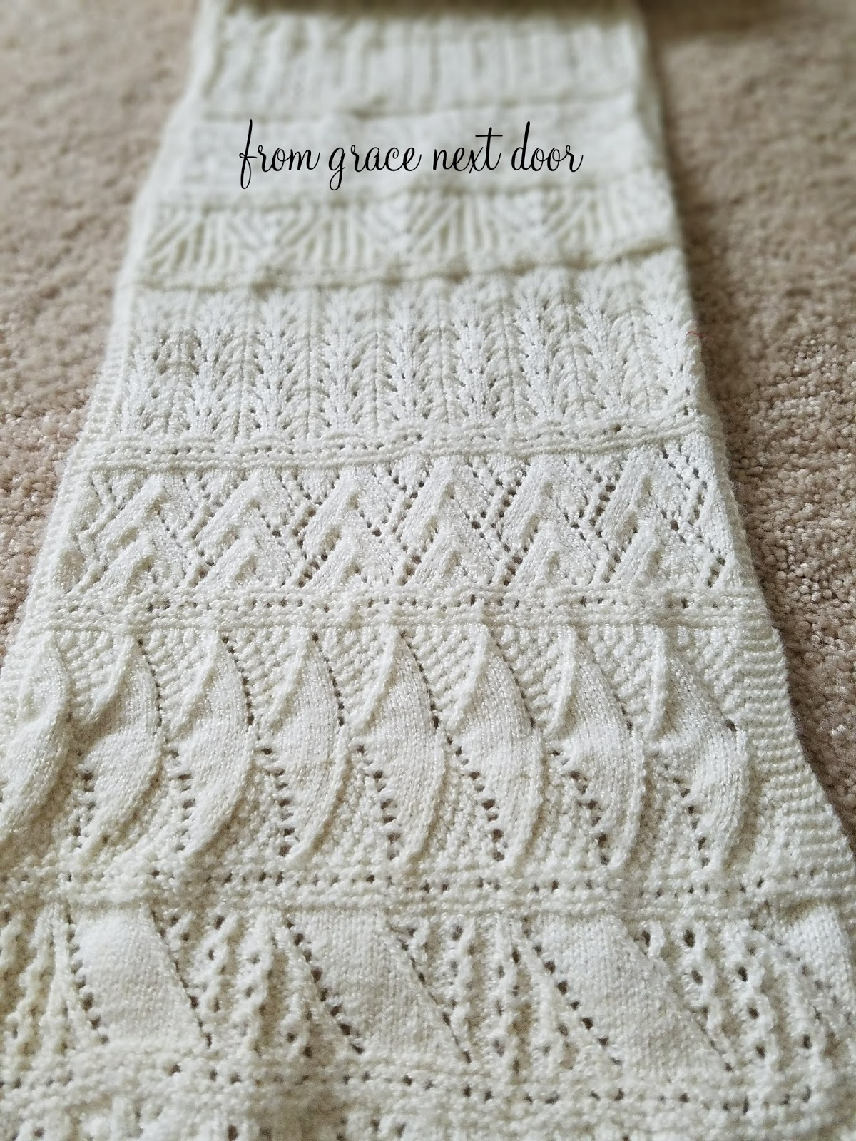 from grace next door: Advent Scarf - Last Finished Project of 2017