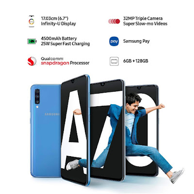 Samsung Launched New Smartphone | New Samsung Galaxy A70 | Latest Mobile