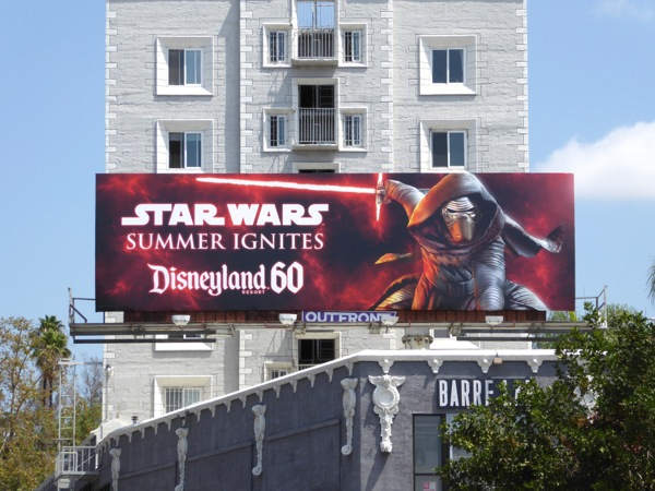 Star Wars Summer ignites Disneyland billboard