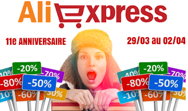 Anniversaire Aliexpress 2021 coupons