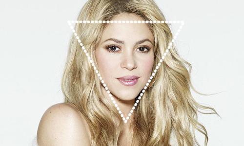 shakira cara triangulo invertido diamante
