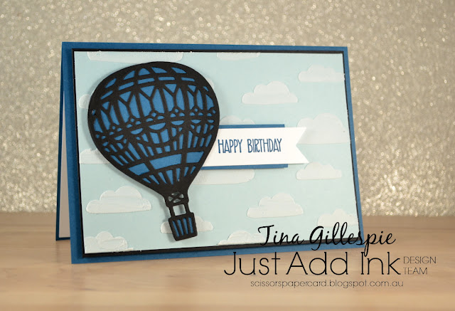 Stampin' Up!, scissorspapercard, Texture Paste, Lift Me Up, Up & Away, Sunshine Wishes, Just Add Ink