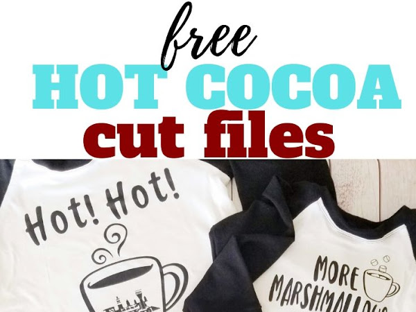 Free Holiday Hot Cocoa SVG Cut Files for T-shirts