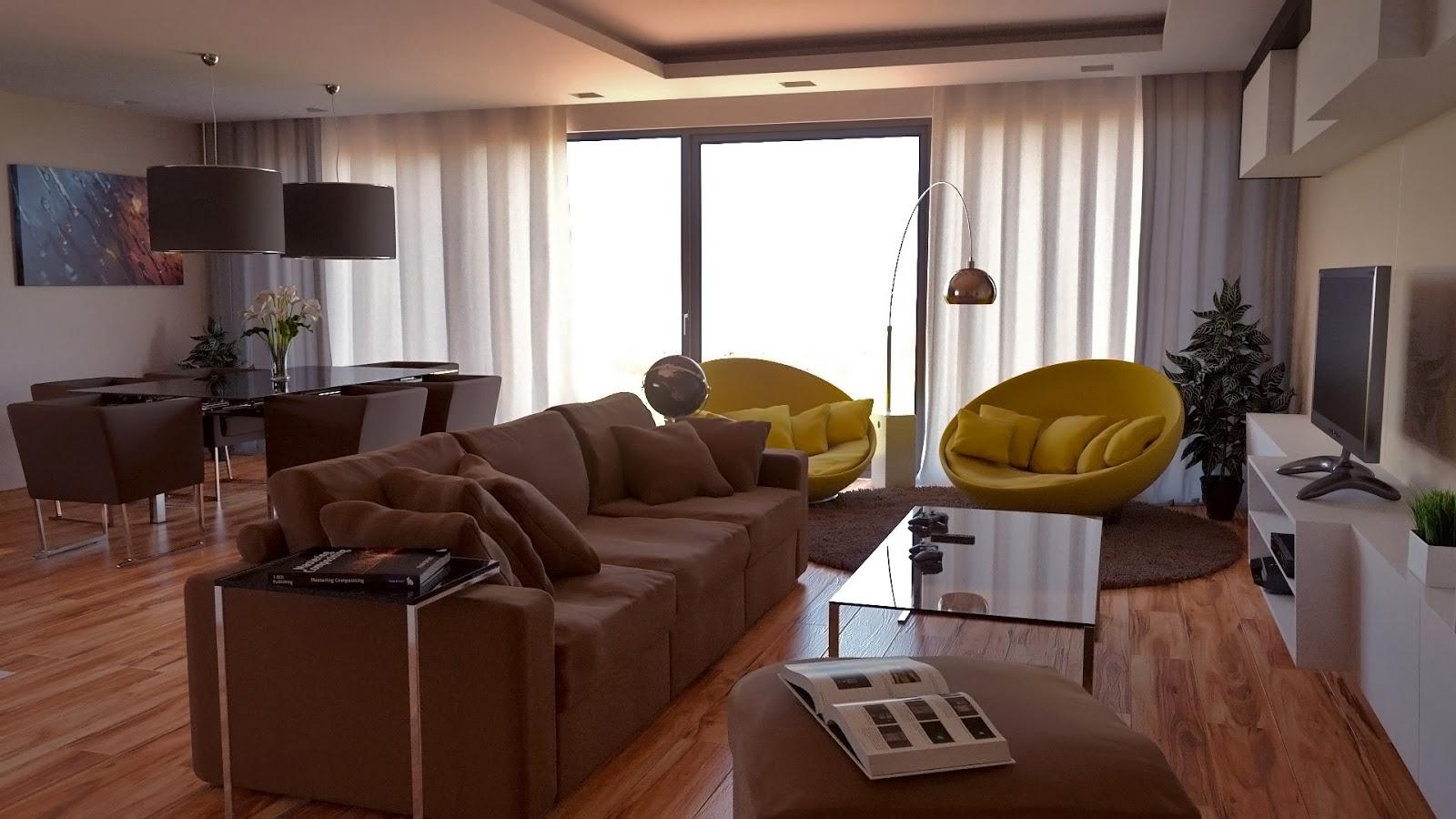 Artwork On Screen Modern House Model Blender Render