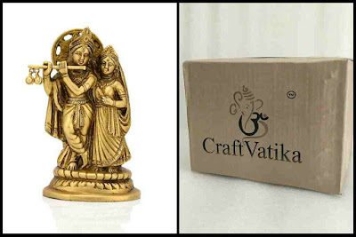 Brass Radha Krishna Statue for central office Gifts