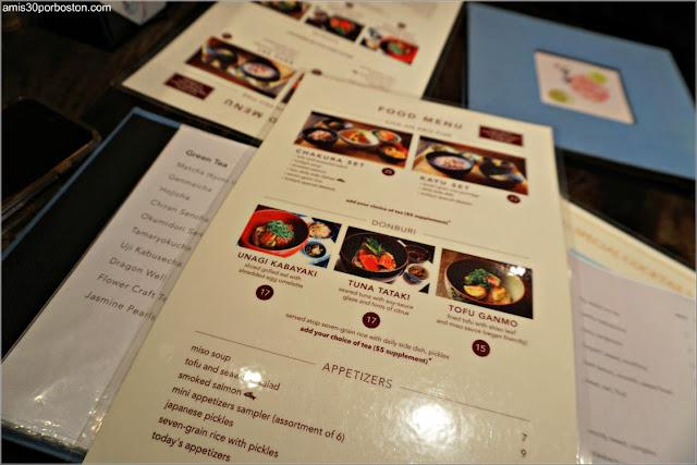 Menú Almuerzo de Cha-An Teahouse en Nueva York