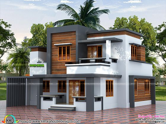 22 5 lakh cost estimated modern house kerala home for Home designs for 2018