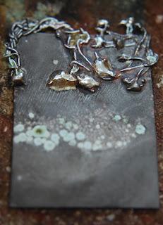 Liz Samways inkylinky etched fused silver wire landscape