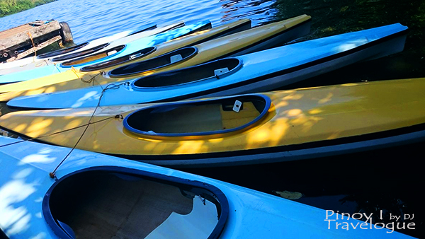 Kayaks at Lake Danao Park