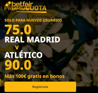 betfair promocuota Real Madrid gana Atletico 12 diciembre 2020