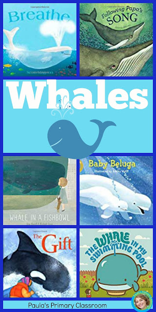 A round up of favorite whale books for children, from Paula's Primary Classroom