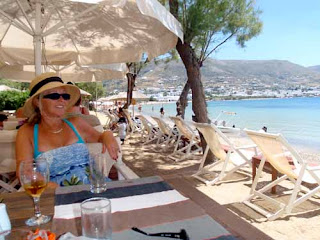 Pat Dunlap Lunch Livadia Beach Paros Greek Islands Greece