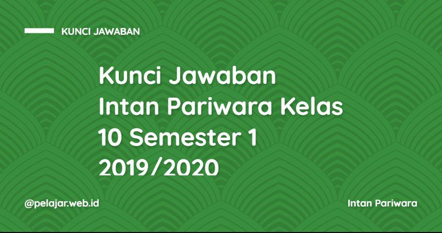 kunci jawaban intan pariwara kelas 10 2020 PDF