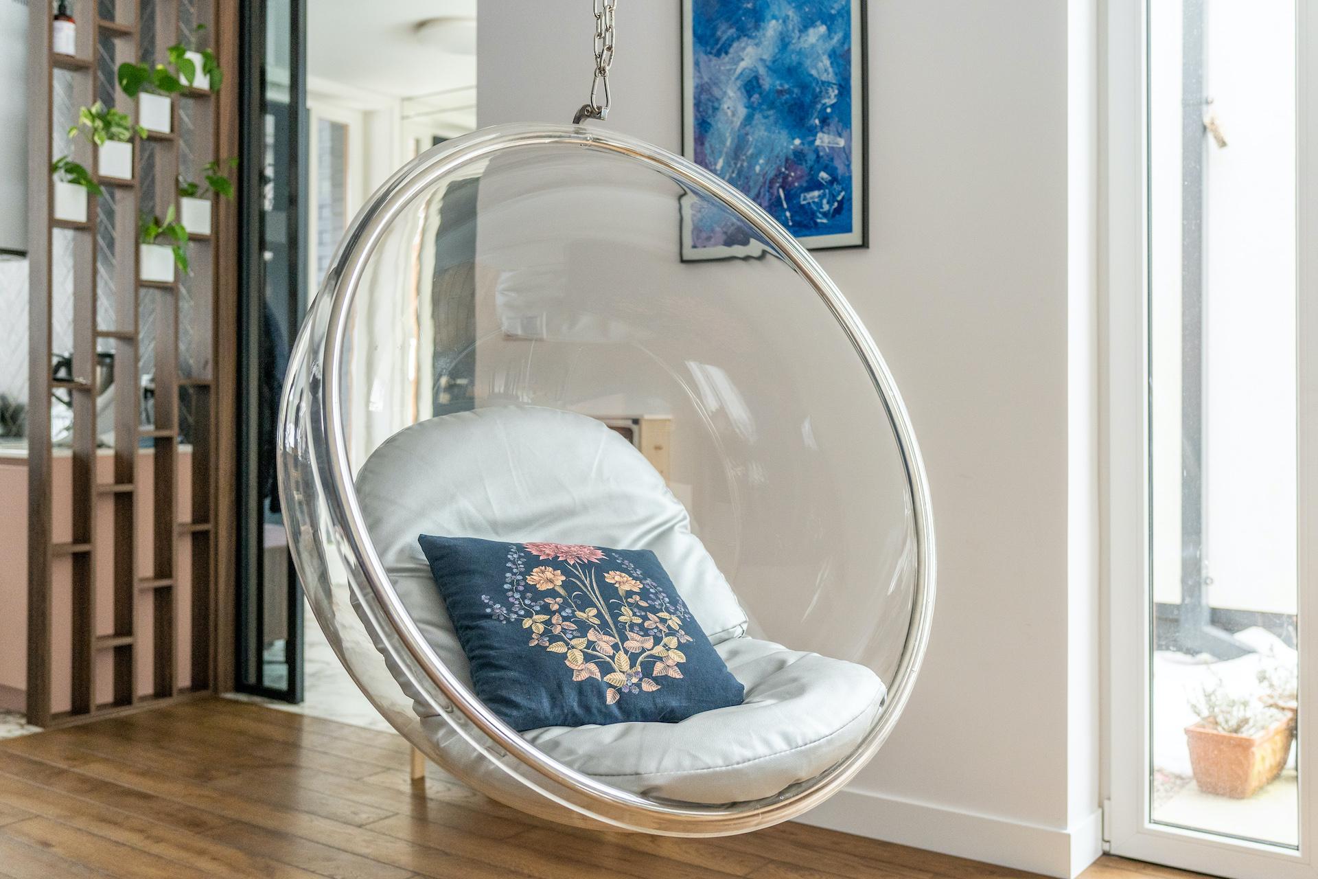 bubble chair fotel wiszący