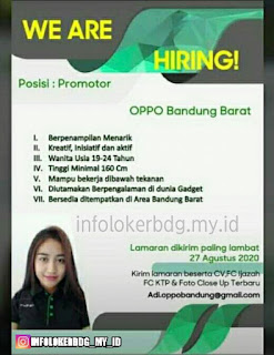 Lowongan Kerja Promotor Oppo Bandung