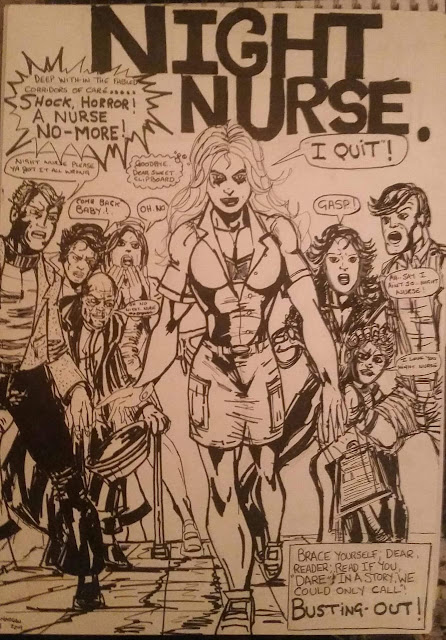 A recreated poster of Marvel's Night Nurse Comics by artist Eddie Morgan.