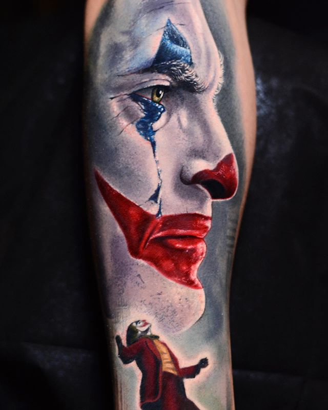 Tatuaje del joker por Ben Ochoa