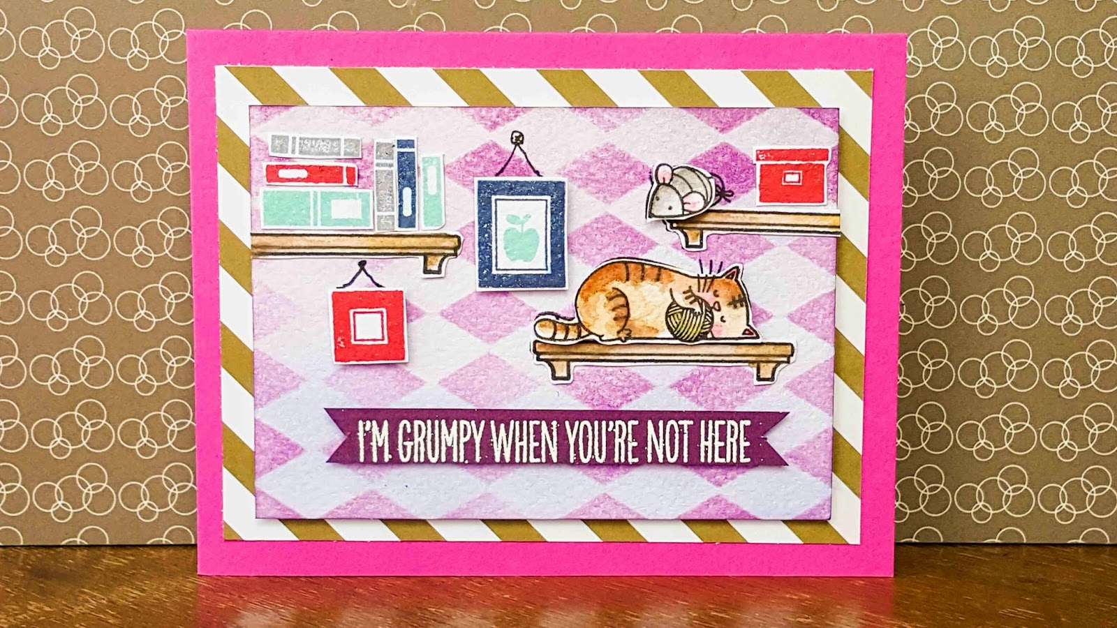 I knead you MFT - watercolor wall scene using distress markers front picture