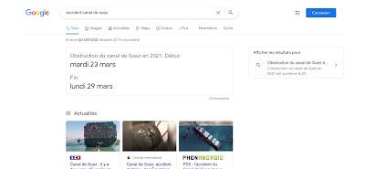 Google Easter Egg: Accident du Canal de Suez