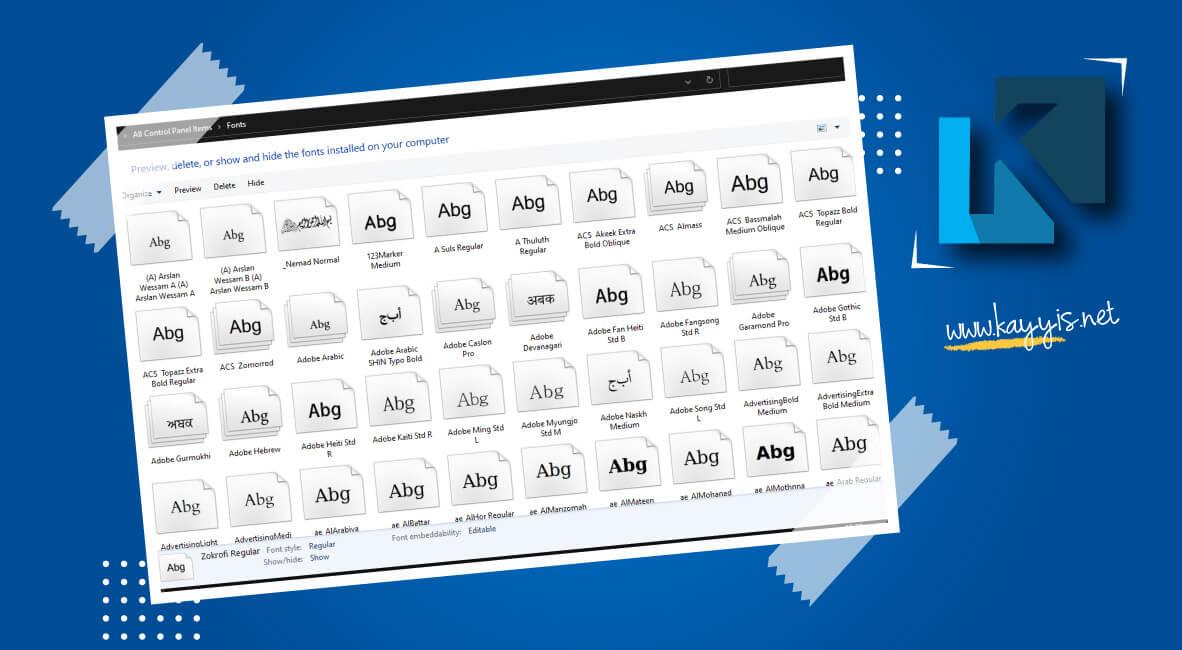 Download Font Arab Keren Gratis