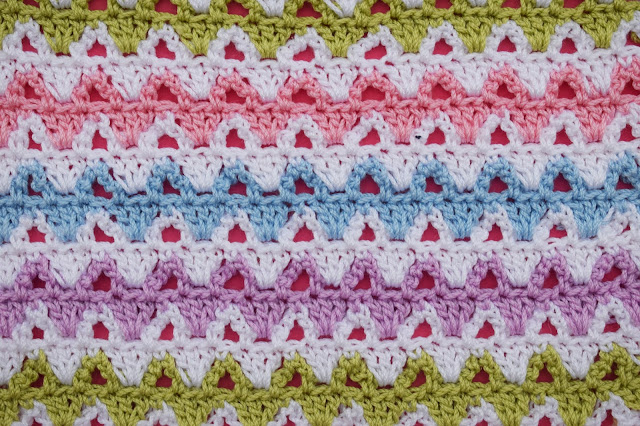1 - Crochet Imagen Puntada a colores a crochet y ganchillo por Majovel crochet