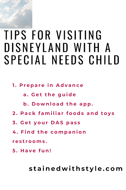list for visting disneyland with a child on the autism spectrum