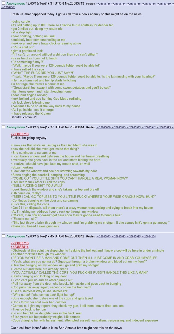 A long funny Greentext story