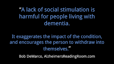 A Lack of Social Stimulation | Alzheimer's Reading Room