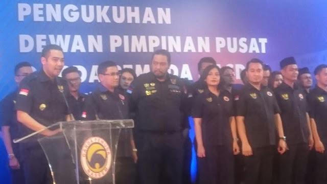 Lantik Pengurus DPP GPND, Prananda Paloh: Jangan Sampai Terjangkit 'Political Monopause'