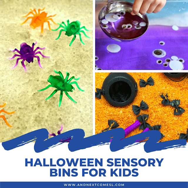 The best Halloween sensory bins for toddlers and preschool kids