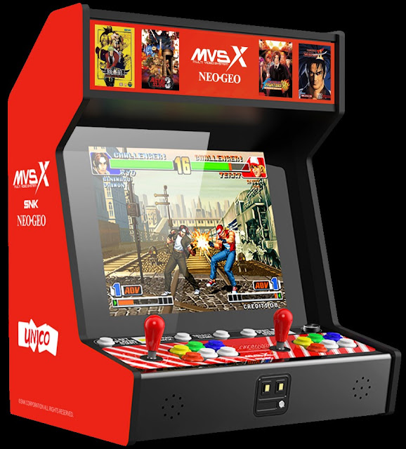 Gstone announces the SNK NEOGEO MVSX Home Arcade Featuring 50 Classic SNK Titles The ultimate arcade is coming to North America in November 2020