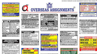 Assignments Abroad Jobs~12 June