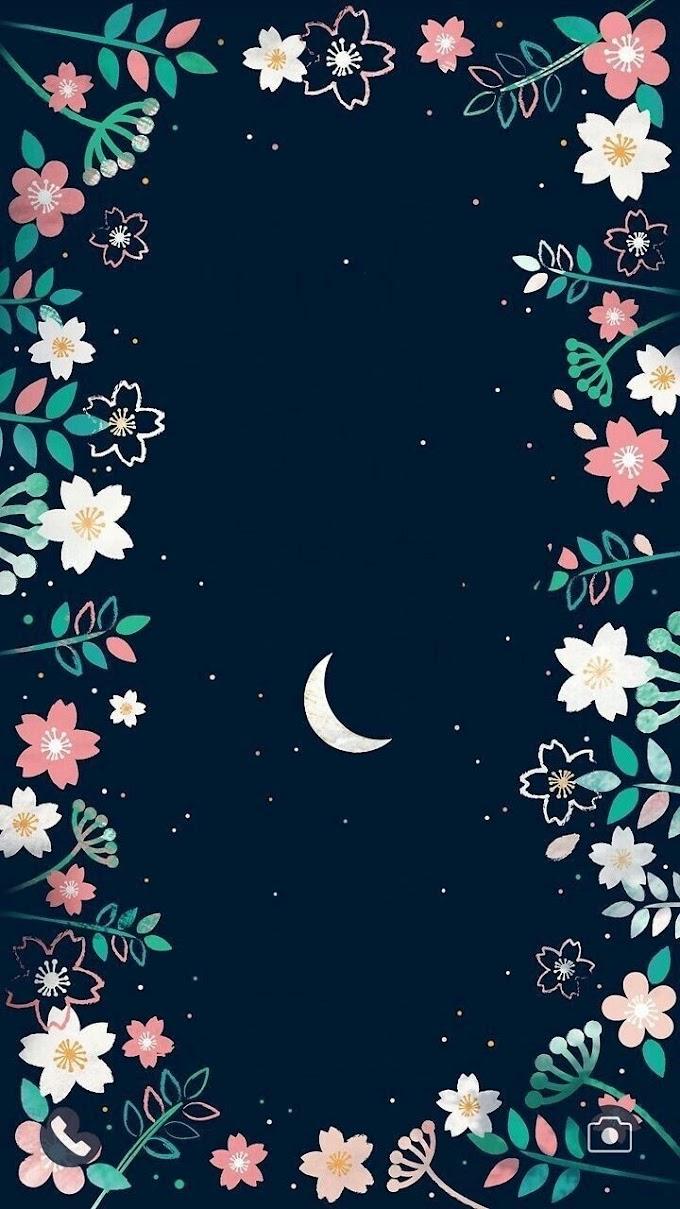 Lua E Flores Papel De Parede Celular