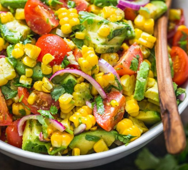 Summer Corn Salad #vegan #salad