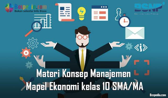 Materi Konsep Manajemen Mapel Ekonomi kelas 10 SMA/MA