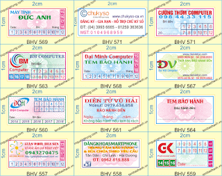 In tem bảo hành chất lượng cao, in name card đẹp thiết kế miễn phí