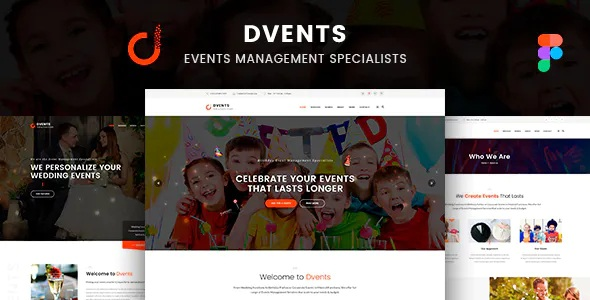 Best events website template