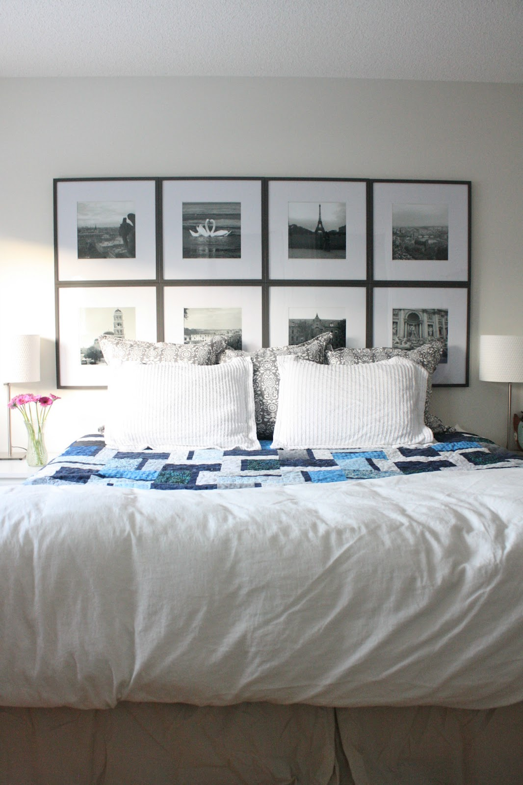 A Beautiful Backdrop Picture Frame Headboard Reveal