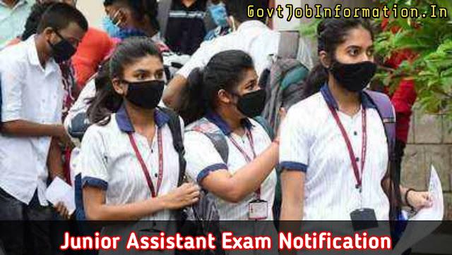 Junior Assistant 2020 Exam Date