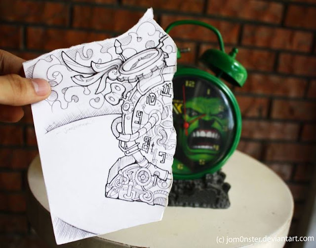 Creative Pencil Vs Camera example by secondary school students