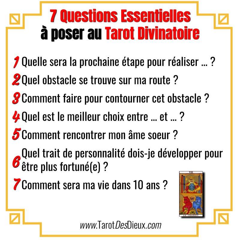 La liste des 7 questions essentielles à poser au tarot divinatoire