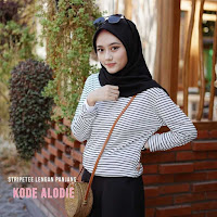 ANDHIMIND Kaos Stripetee Lengan Panjang White Black Small List