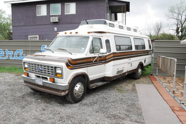 Vintage class b motorhome 1989 ford travelcraft camper for Motor homes san antonio