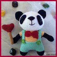 Panda coqueto amigurumi