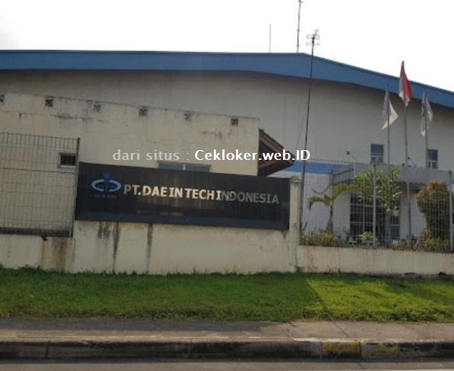 INFO Lowongan kerja Terbaru Bekasi Kawasan MM2100 PT.Dae In Tech Indonesia