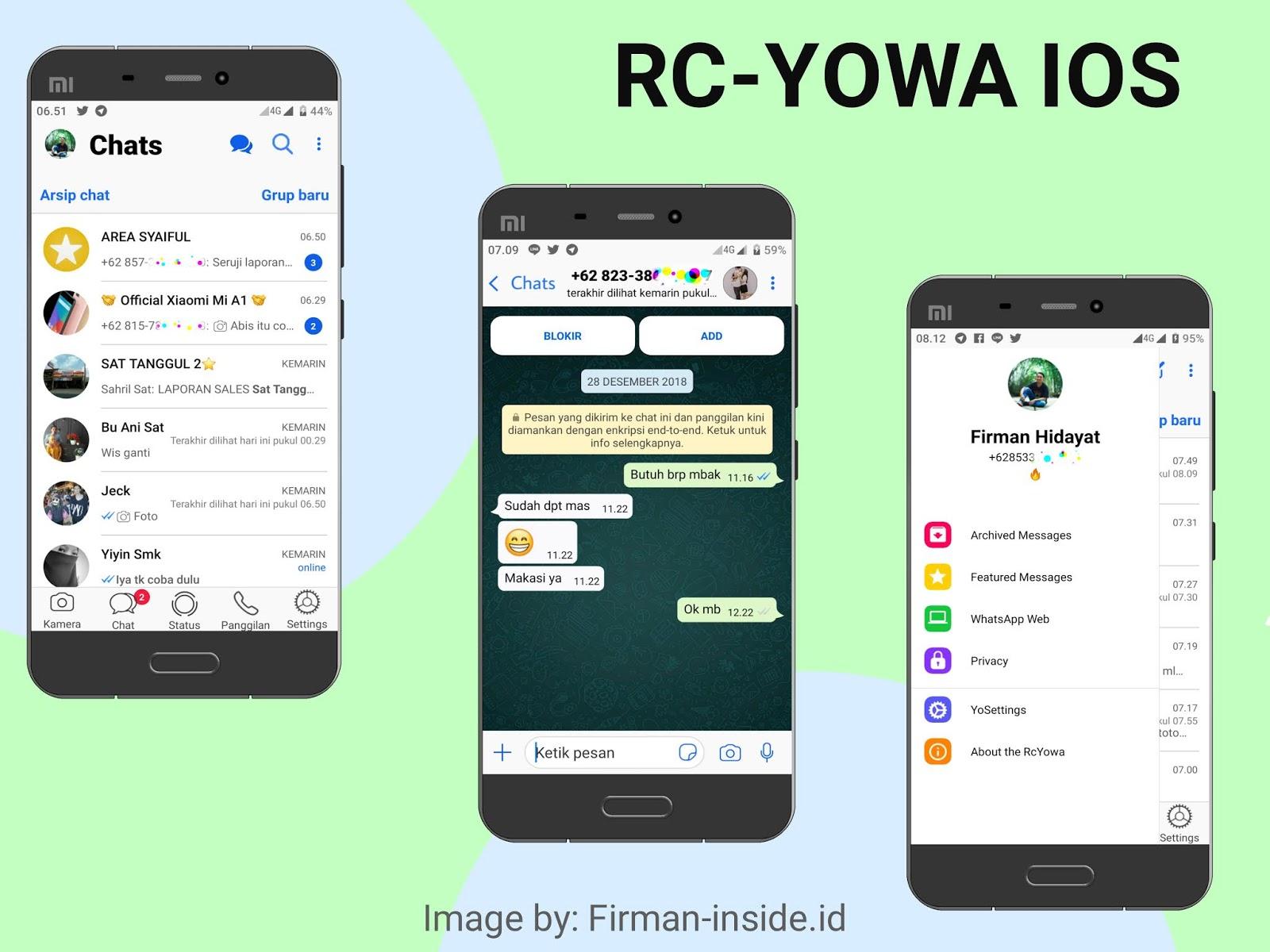 Aplikasi WhatsApp Mod IOS 12 1 RC-YoWa Versi 7 81 Update
