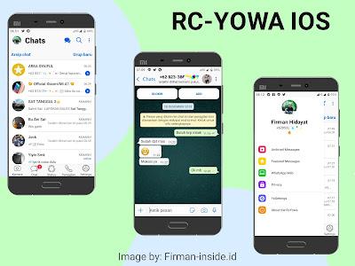 Aplikasi WhatsApp Mod IOS 12.1 RC-YoWa Versi 7.81 Update Terbaru