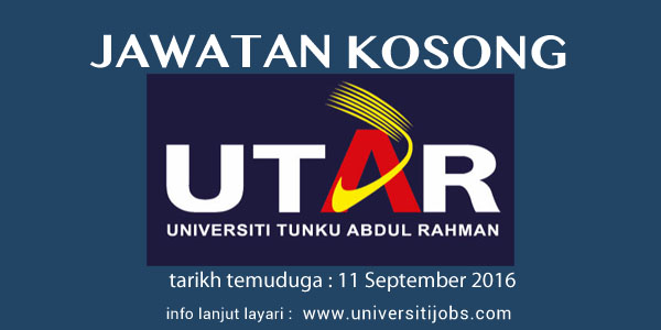 Jawatan Kosong Universiti Tunku Abdul Rahman 2016, Faculty of Arts and Social Science 2016