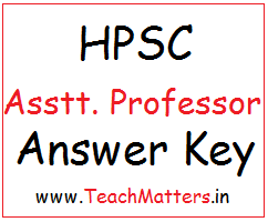 image : HPSC Assistant Professor Answer Key (College Lecturer) @ Teachmatters