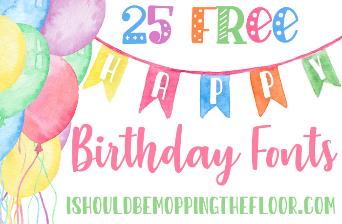 Free Happy Birthday Font Downloads